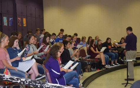 Show Choir or Chorale  practicing sight reading for State Qualifiers.
