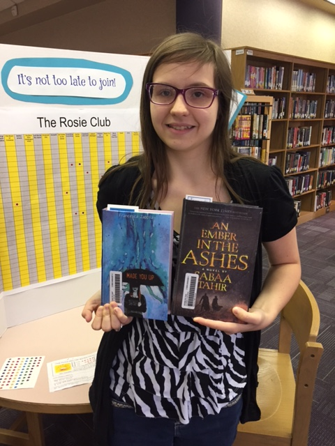 10th grader Brianna Lee with her two Rosie books