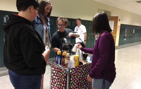 Academy Students Serve Coffee