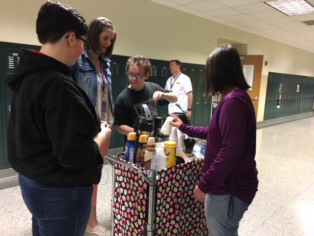 Academy Students Serve Coffee