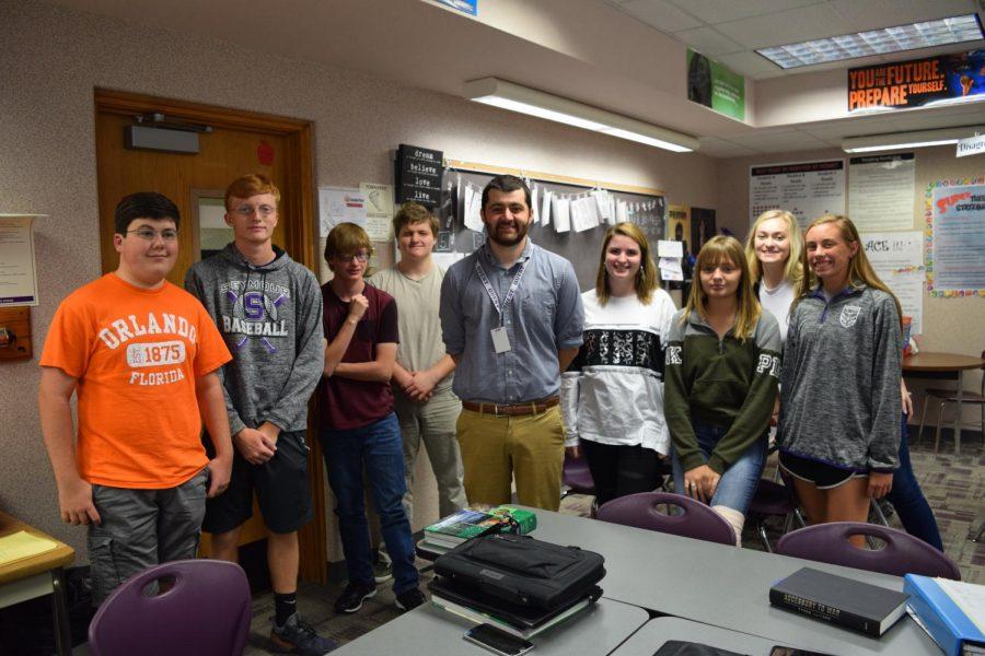 Jordan Morey Inspires SHS Newspaper Class