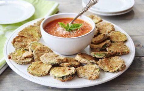 Oven Fried Parmesan Zucchini Crisps