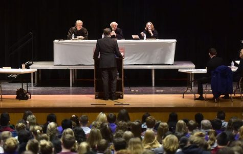 Real Court Appeal Takes Place in Earl D. Prout Auditorium