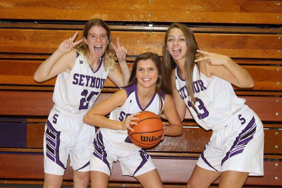 Three Lady Owl Seniors.  Left Megan Ritz, Middle Ashton Chase, Right Makenna Fee.