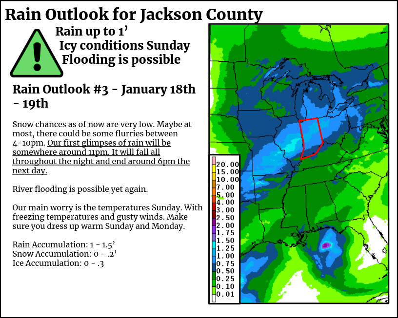 Rain Outlook for the Weekend: January 18th/19th