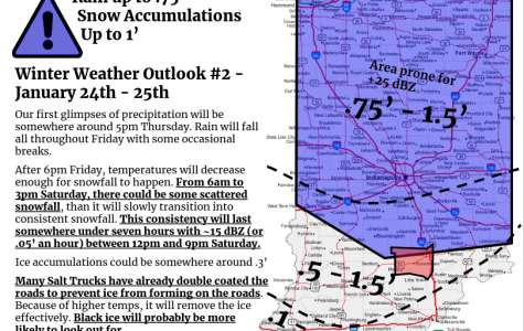 Winter Weather Outlook for January 24th and 25th
