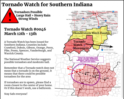 Tornado Watch Update for March 12th and 13th