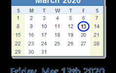 March 13, 2020